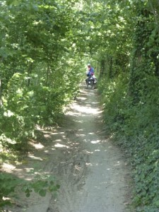 Only to be treated to another patch of narrow, deeply rutted paths.