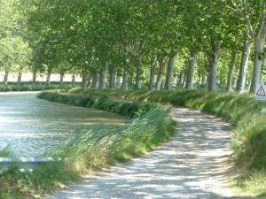 Canal path near Paraza