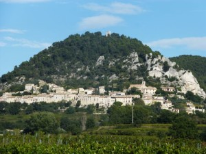 The route through the vineyards to Vaison-la-Romaine