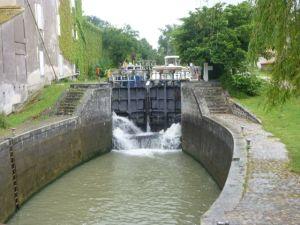 Locks along the Canal du Midi