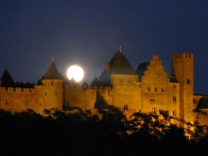 Full moon over Carcassonne