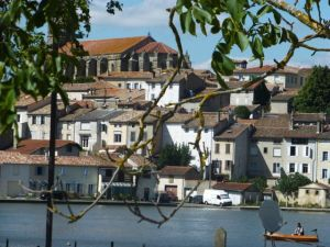 View of Castelnaudary from my room at Le Grand Bassin