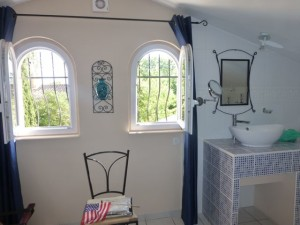 The gorgeous bathroom in our room