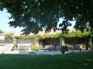 The pool area at Villa Noria