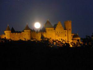 Full moon over Carcassonne