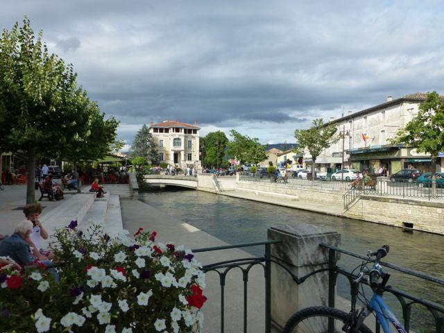 One of my favorite towns, Isle-sur-la-Sorgue