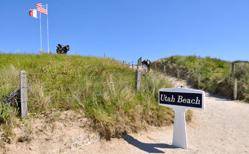 Utah Beach, the starting point of my bicycling trip