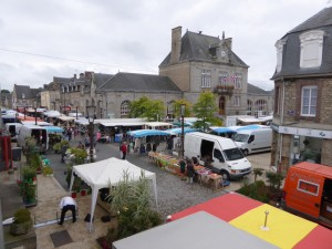 The Wednesday market in Pontorson