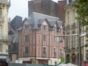 The gorgeous buildings on the streets around the market