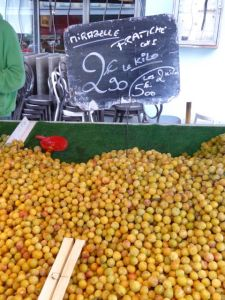 My favorite, mirabelles