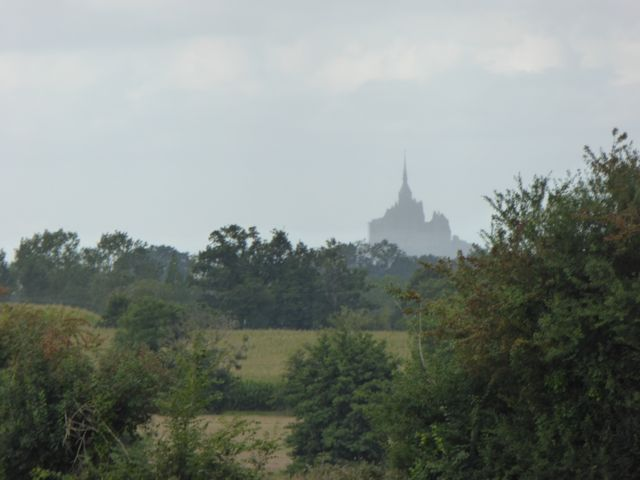 First sighting of Mont Saint Michel