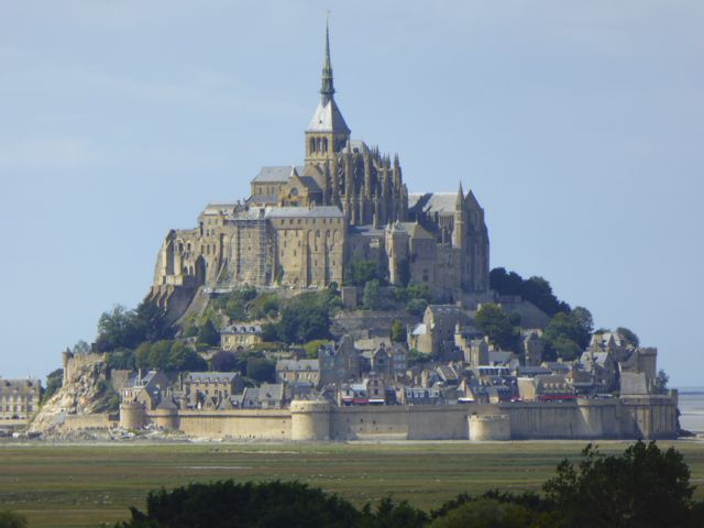 Endpoint of D-Day Beaches to Mont-St-Michel cycling itinerary