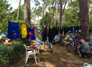 Laundry day at the Killick campsite