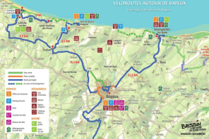 Cycling routes in and around Bayeux
