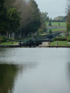 View along the I'lle et Rance Canal greenway in Brittany