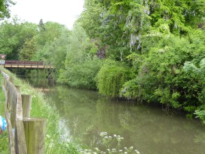 The canal is peaceful and serene