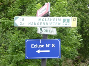 Great signage along the Bruche Canal