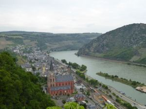 Spectacular view of the Rhine from the castle