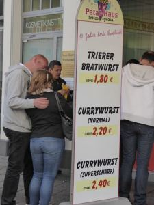 There's always a line to buy bratwurst!