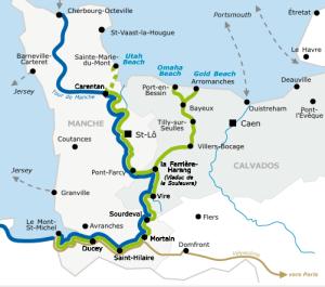 Stage 1 route is Mont-Saint-Michel to Saint-Marie-du-Mont/Utah Beach Photo: France velo Tourism