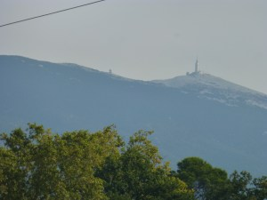 View of Mont Ventoux from Bedoin