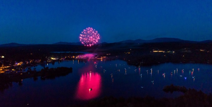 Fireworks over Rangeley Lake