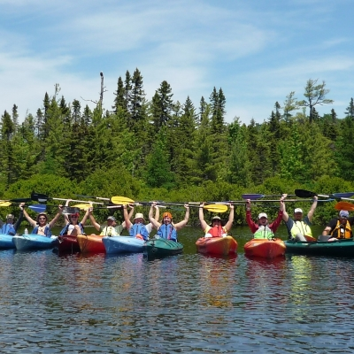 Kayaking on Rangeley Lake