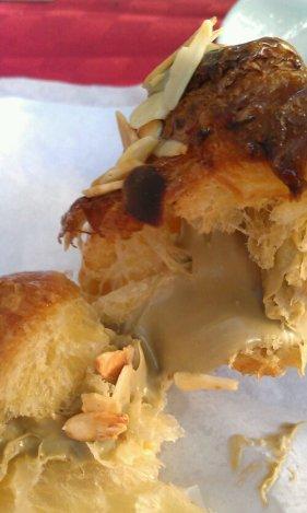 Croissant with pistachio butter filling.