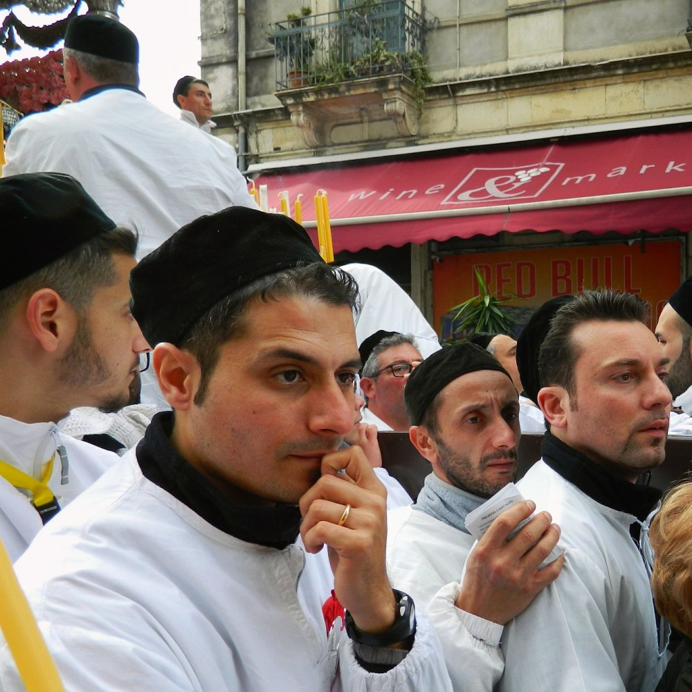 Devotees to Sant'Agata in Catania, Sicily