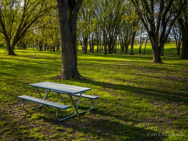 Picnic Table At Hickories Park
