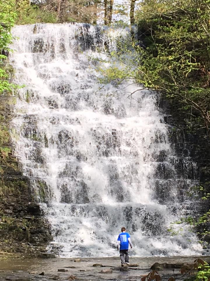 Waterfall with Kid 1