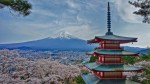 Chureito Pagoda and Mount Fuji cherry blossoms
