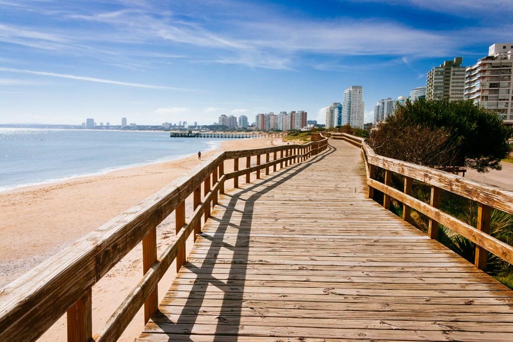 Vista de la Playa Mansa de Punta del Este