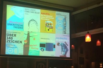 Einige ebooks, die im Frohmann Verlag entstanden sind