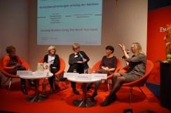 Grenzüberschreitungen entlang der Nordsee - Jacqueline Smit, Mireille Berman, Doris Hermanns, Eva Cossée und Patricia Defour (v.r.n.l.)