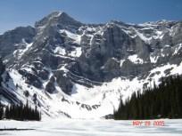 Goat Lake; amazingly, this is almost June. Brrrrrrr