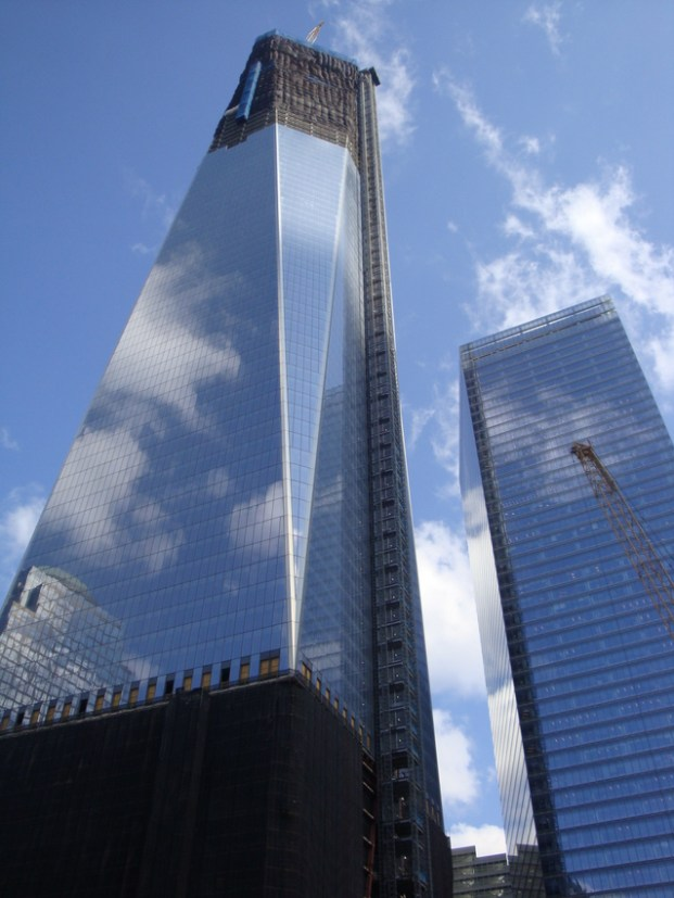 Freedom Tower still under construction in 2013
