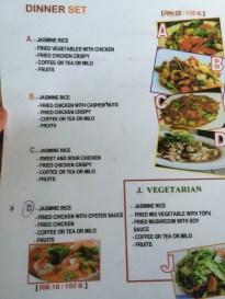 Train 36 dinner menu