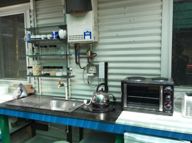 the industrial kitchen