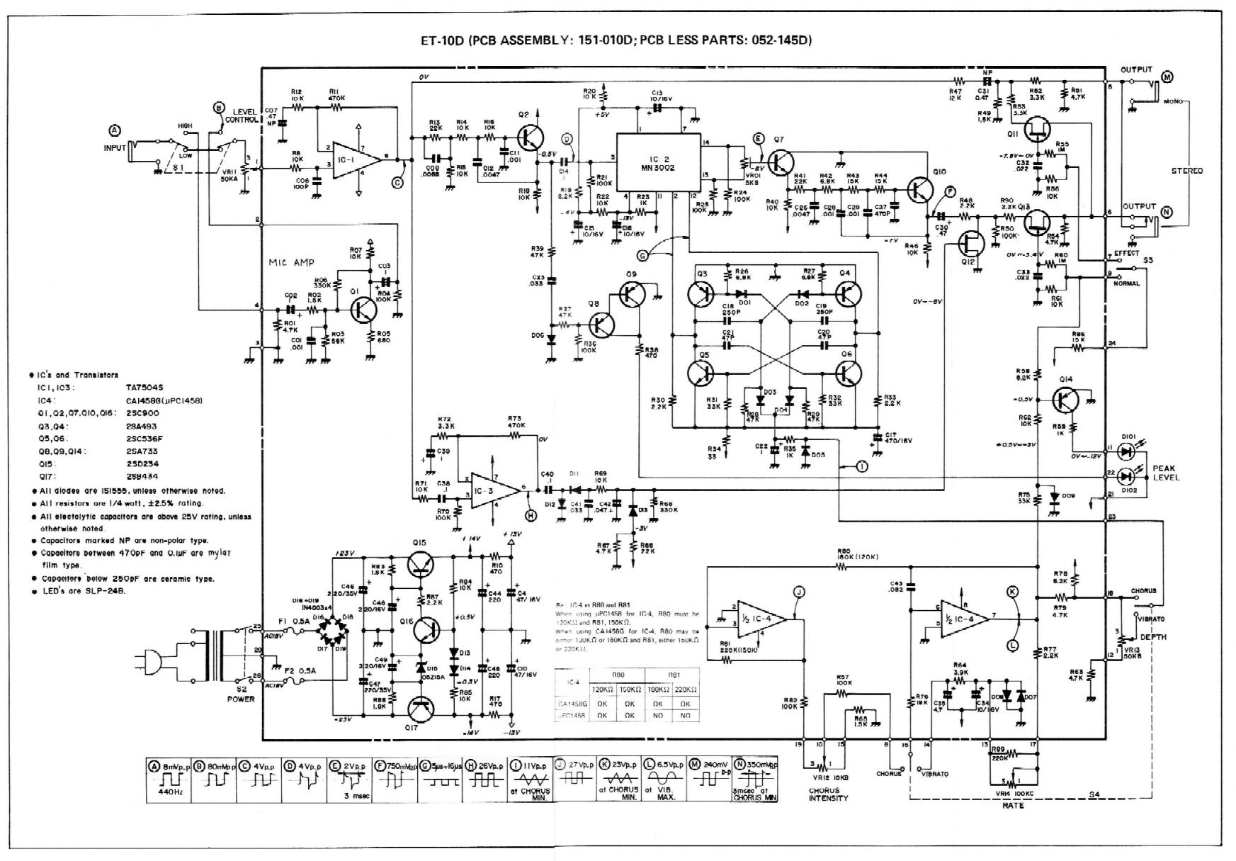 Boss Reverb Schematic