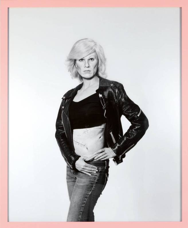maureen-paley-gillian-wearing-artwork-me-as-warhol-in-drag-with-scar-2010