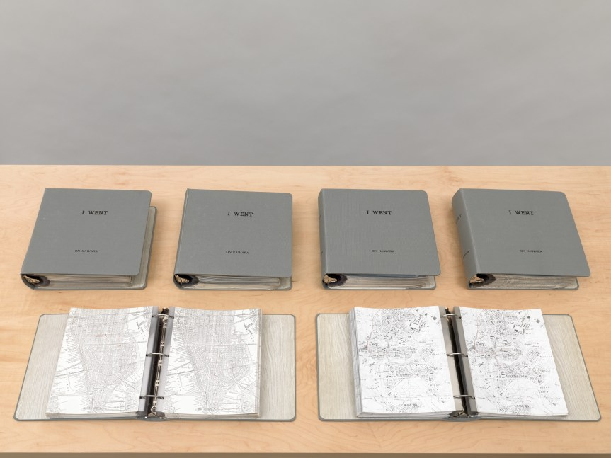 I Went, 1968–79 Clothbound loose-leaf binders with plastic sleeves and inserted printed matter Twenty-four volumes, 11 1/2 x 11 13/4 x 3 inches (29.2 x 29.8 x 7.6 cm) each Sleeve size: 11 1/16 x 8 5/8 inches (28.1 x 21.9 cm) Inserts: Ink on photocopy, 11 x 8 inches (27.9 x 20.3 cm) each Collection of the artist