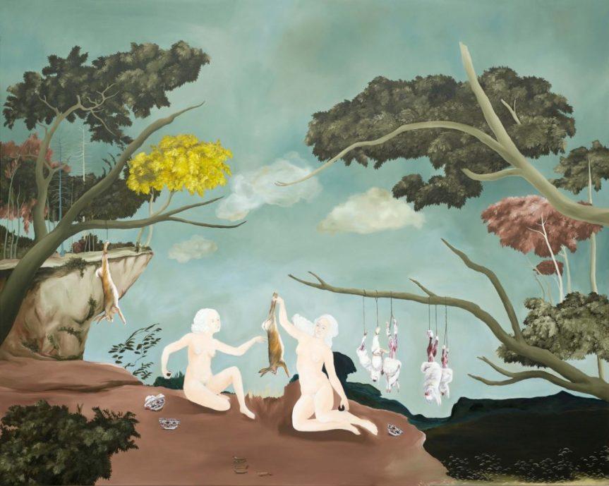 Sanam Khatibi With tenderness and longing. 2016. Oil and pencil on canvas. 160 x 200 cm http://sanamkhatibi.com/work/