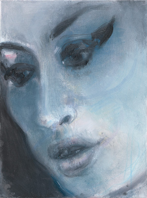 Marlene Dumas Amy - Blue Oil on canvas 40 x 30 cm 2011