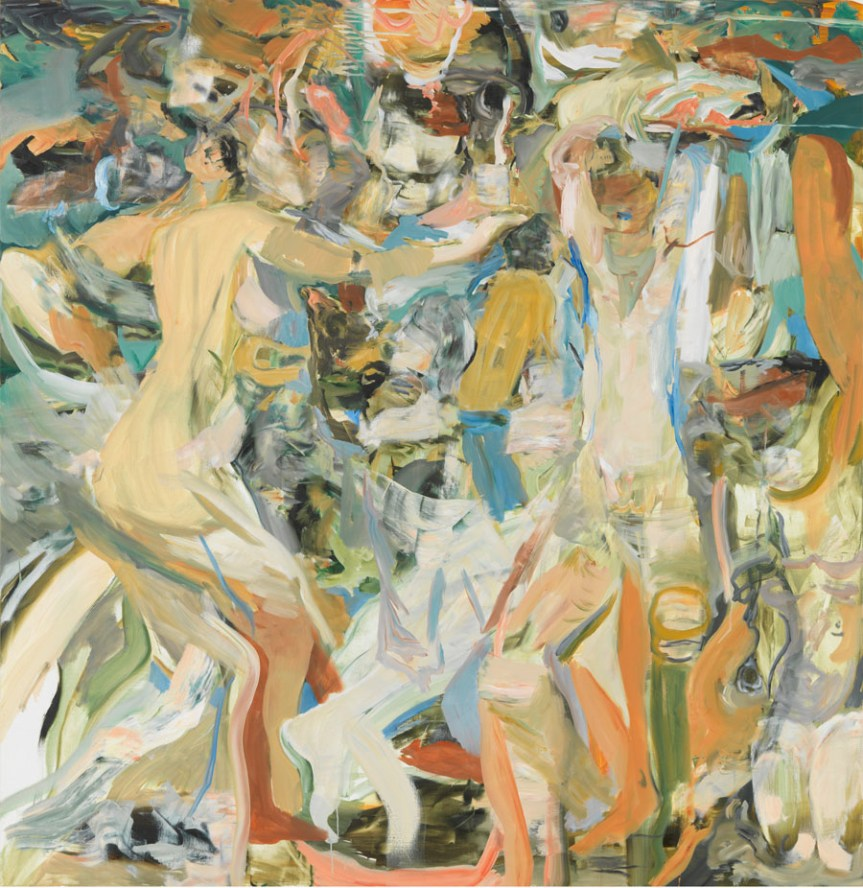 Cecily Brown The river's tent is broken oil on linen 67 x 65 inches (170.2 x 165.1 cm) 2014 http://www.gagosian.com/now/cecily-brown