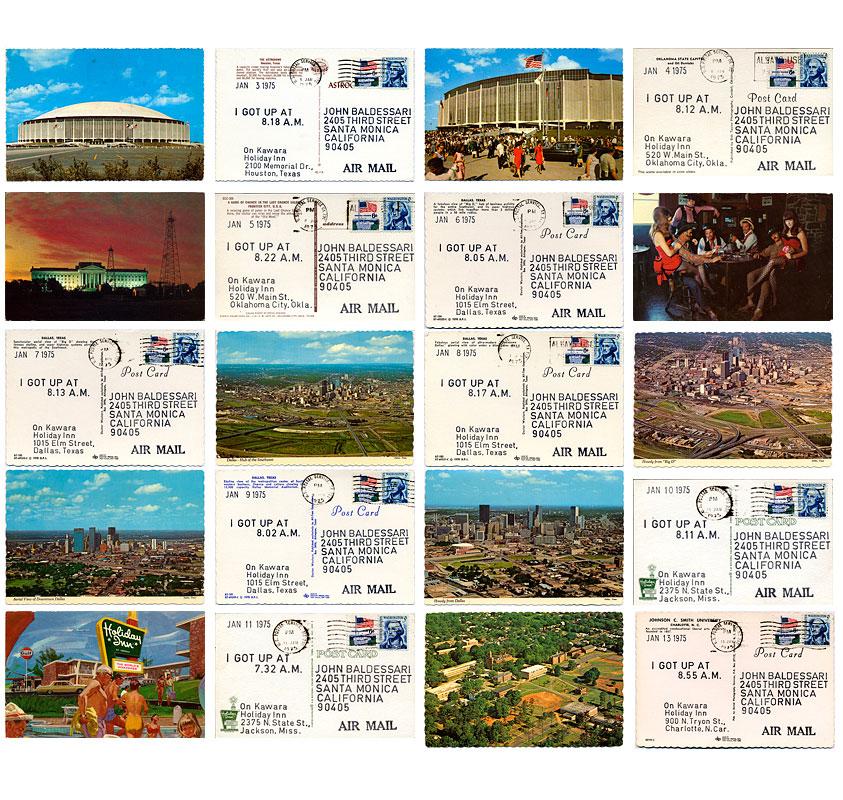 On Kawara, I Got Up, postcards, 1968-1979