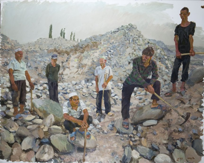 Liu Xiaodong East, 2012 Oil on canvas 250 x 300 cm / 98 1/2 x 118 in. http://www.lissongallery.com/artists/liu-xiaodong/gallery/3911