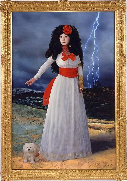 Yasumasa Morimura Dedicated to La Duquesa de Alba/ White Alba , 2004 C-Print on canvas Edition of 10 35 3/8 X 23 5/8 inches