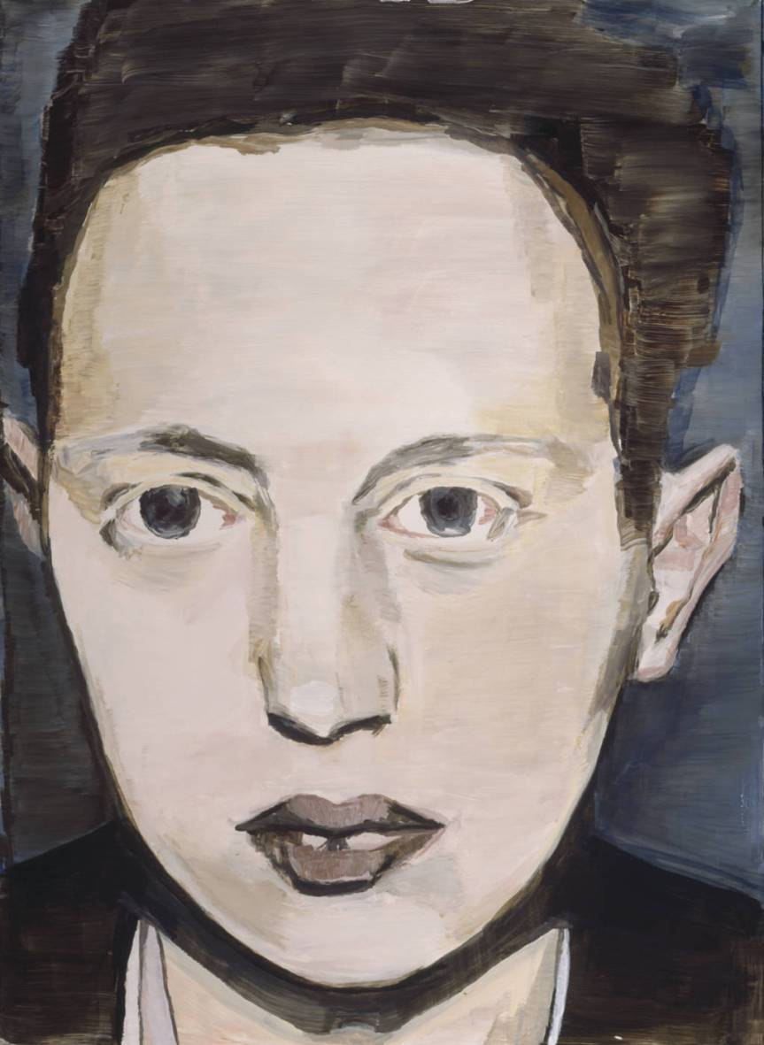 Luc Tuymans, Der diagnostische Blick V (The Diagnostic View V), 1992; oil on canvas; 58.1 x 41.9 cm http://arttattler.com/archiveluctuymans.html
