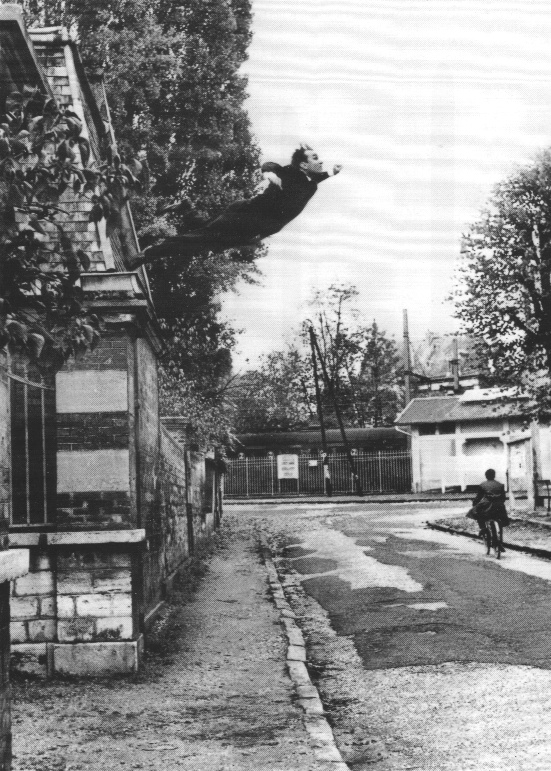 Le Saut dans le vide (Leap into the Void); Photomontage by Shunk Kender of a performance by Klein at Rue Gentil-Bernard, Fontenay-aux-Roses, October 1960